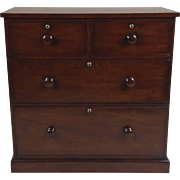 Early Victorian Small Mahogany Chest of Drawers