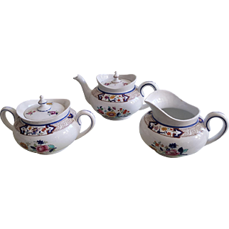 Royal Cauldon England 3-piece Tea Set