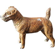 German Cast Metal Terrier Figurine