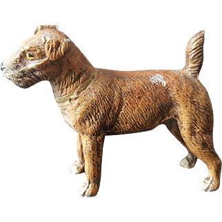 German Cast Metal Terrier Figurine