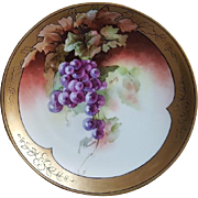 Limoges Hand-painted Cabinet Plate