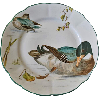 Bailey Banks & Biddle Hand-painted Game Plate