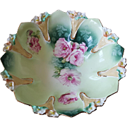 RS Prussia Hand-painted Porcelain Bowl