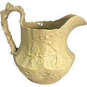 Rare Antique Staffordshire Ivy Relief Moulded Drabware Jug circa 1820 Stamped I.D.B for John Denton Bagster