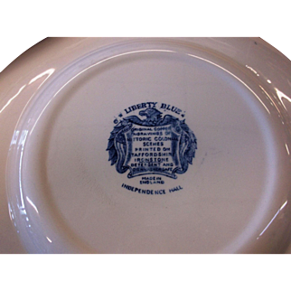 "13 Liberty Blue 10"" Dinner Plates"