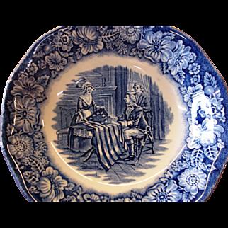 12 Liberty Blue Dessert Bowls