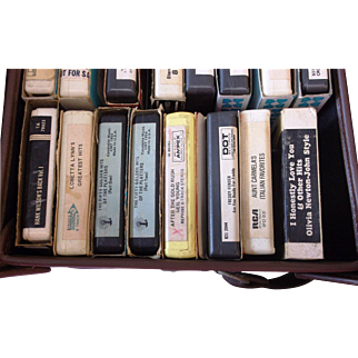 23 8 Track Tapes with Leather Case