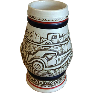 Collectable Avon Beer Stein Mug Hand Crafted in Brazil Vintage Cars Dated 1982