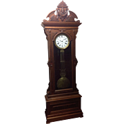 New Haven Walnut Regulator Clock