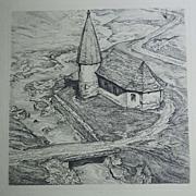 1937 Joseph Seger Original etching Austria