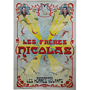 19 Century Vintage French Circus Poster