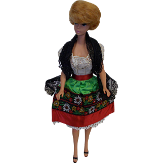 Vintage Barbie in Mexico Outfit