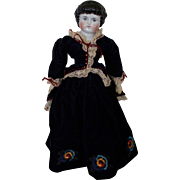 "20"" Antique Alt Beck Gottschalk 1000/9 Highland Mary China doll with Original body"