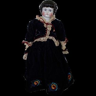 "20"" Antique Alt Beck Gottschalk 1000/9 Highland Mary China doll with Original body"