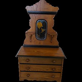 Old Wooden Doll Dresser