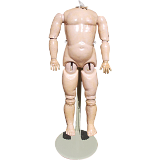 Large Chunky Antique Composition Doll Body Only