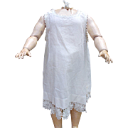 Large Antique Doll Full Slip