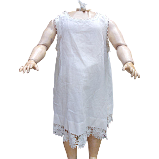 Large Antique Doll Full Slip