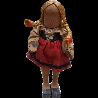 Tiny All Wood Swiss Doll