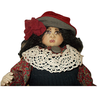 Vintage Soft Sculpture Cloth One of a Kind Doll
