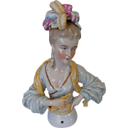 Large China Half Doll