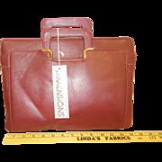 Burgandy glove leather briefcase