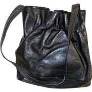 Glove soft black leather handbag