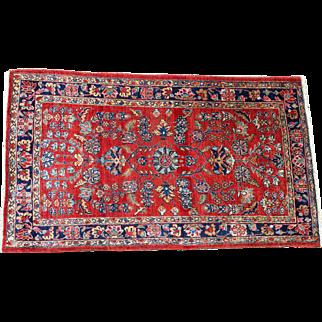"Persian Sarouk 1910s Handmade Antique 35.5"" by 61.25"""