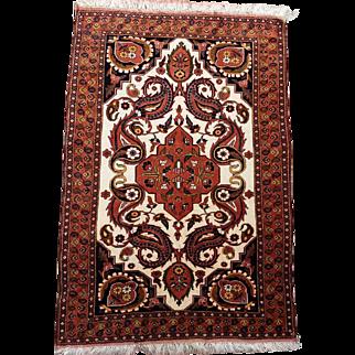 "50"" by 81.5""  Persian Kurdish Ghousan Wool on Wool handmade"