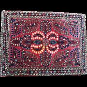 "23.5"" by 31"", Vintage Persian Sarouk Mat 1930s"