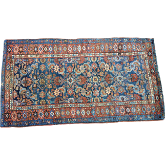 """38""""  by 72"""" Antique Malayer/ Sultanabad, Northwest Persian"""