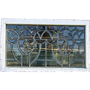 Victorian Beveled Glass Transom Window with Jewels