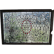Victorian Stained Glass Landing Window