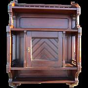 Victorian Eastlake walnut hanging Wall Cabinet
