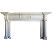 Great  9 FT Antique Classical Style Fireplace Mantel