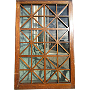 Large Victorian era Oak Mullioned Window