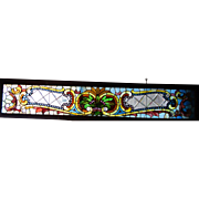 8 foot Victorian Beveled and Stained Combination Window