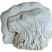 Victorian carved marble Lion Bust