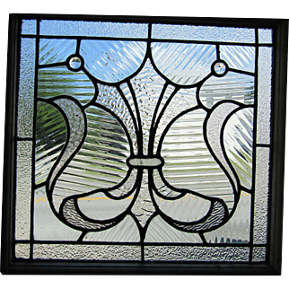 Small Victorian Stained Glass Window 20 by 19