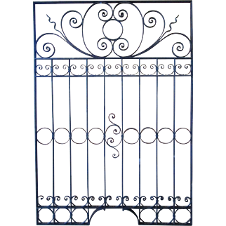 Fancy Victorian Wrought Iron Gate - Window Grille