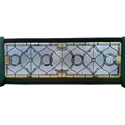 Large Antique Stained Glass transom Window