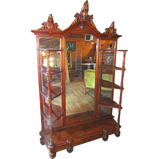 Great Victorian Renaissance Revival Walnut Etegere