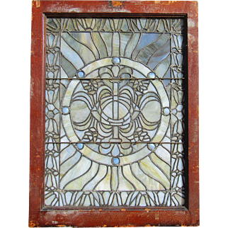 Fancy Antique Stained Glass Window
