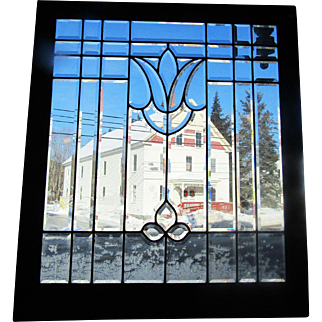 Antique Beveled Glass Window 36 by 41