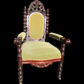 Victorian walnut Rococo style Arm Chair