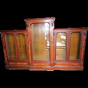 Great Renaissance Revival walnut 5 Door Bookcase