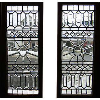 GREAT PR of Antique Beveled Glass Windows