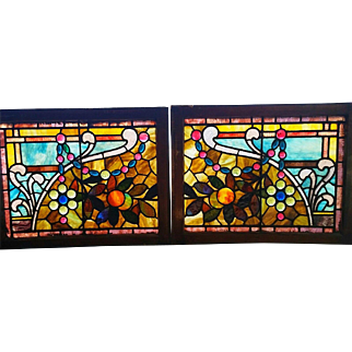 GREAT Pr of Jewerled Stained Glass Windows