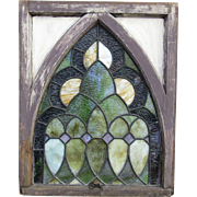 Stained Glass Window in Gothic Frame