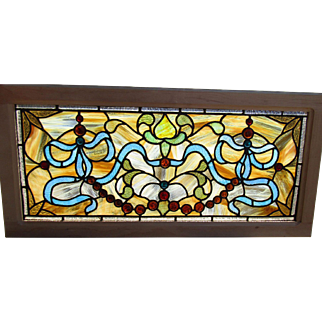 Small Stained Glass Transom with Jewels